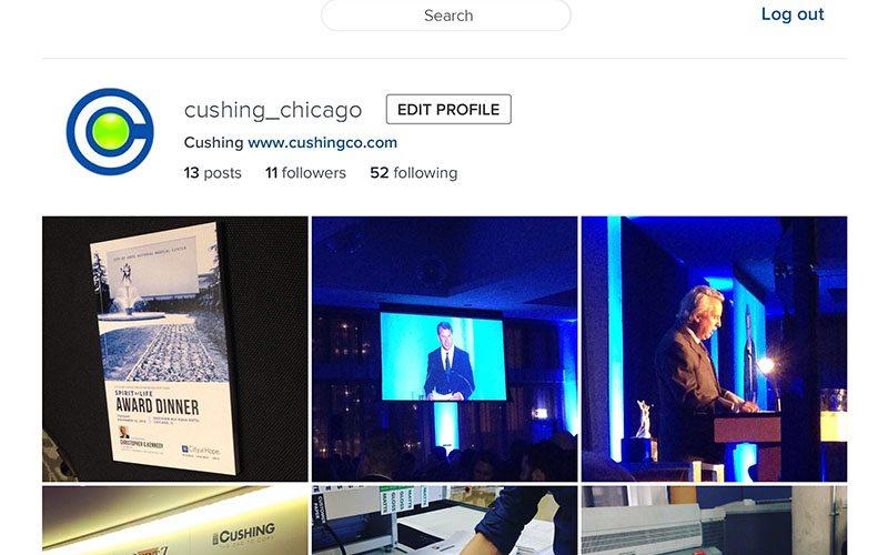 Cushing Instagram Screenshot