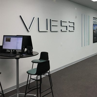 Vue 53 Wall Graphics and Dimensional Lettering