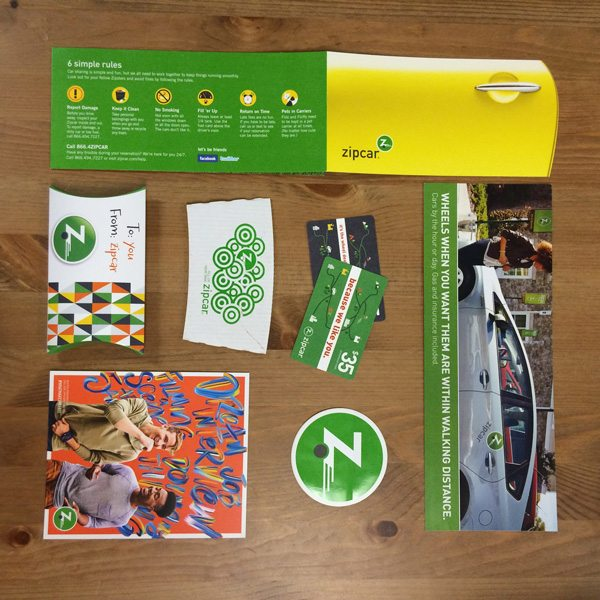 Collection of Zipcar Printed Collateral