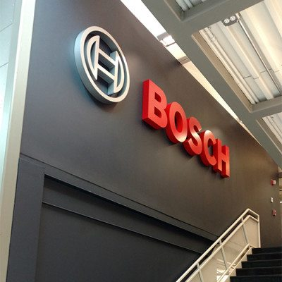Bosch Dimensional Lettering Over Stairwell