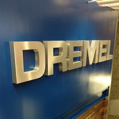 Large Dimensional Lettering Installed in Stairwell