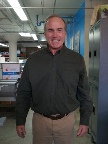 Brian Burke in Cushing Shop