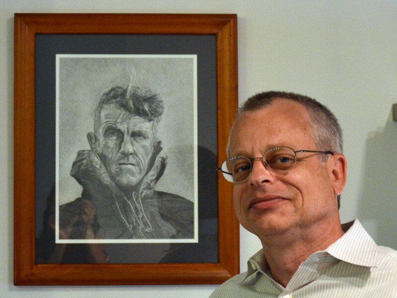 Carl Hansen With Artwork