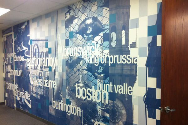 Customized Wall Mural at eBay Offices