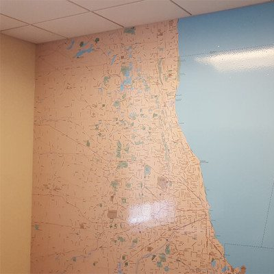 Map Wall Graphic at Lurie's