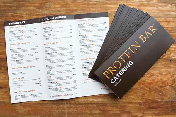 Protein Bar Catering Menu