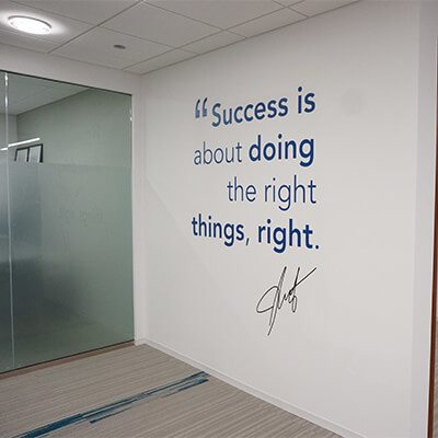 Success Graphic and Whiteboard Wall
