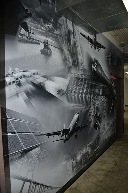 Wallcovering in Hallway at Cushing