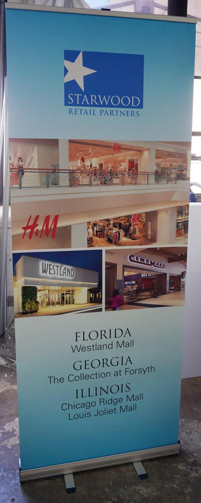 Banner Stand for Starwood Retail
