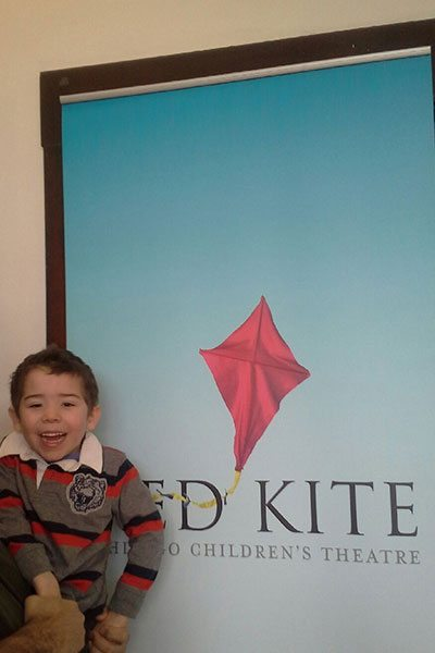 Banner Stand for Red Kite Initiative Children's Theatre of Chicago