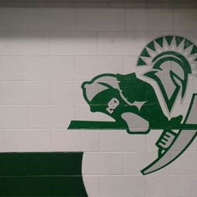 Spartan Wall Graphic Installed at Oak Lawn High School