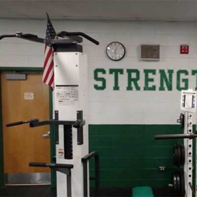 Strength Locker Room Graphic at Oak Lawn High School