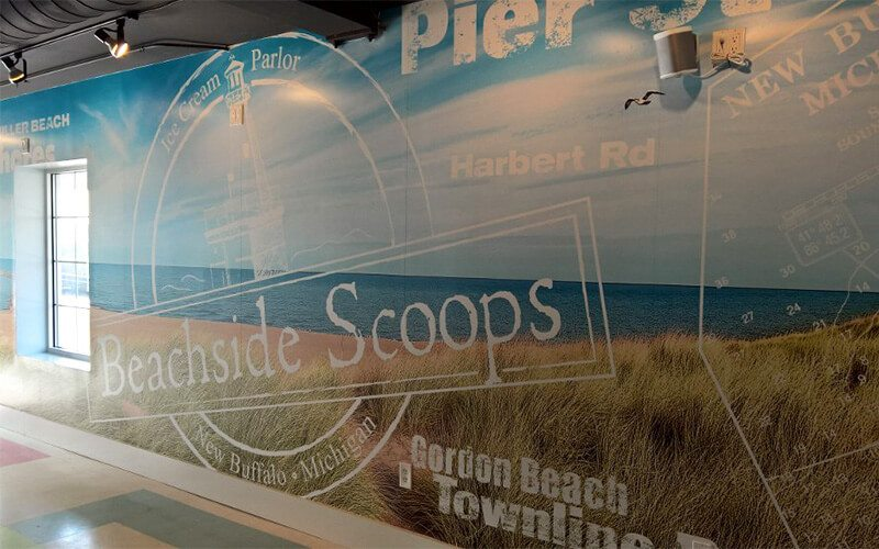 Wall Graphic Close Up at Beachside Scoops