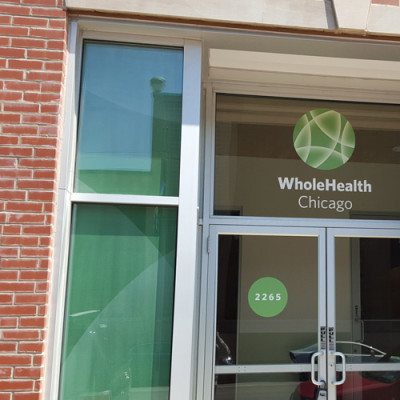 Whole Health Entrance Window Graphics
