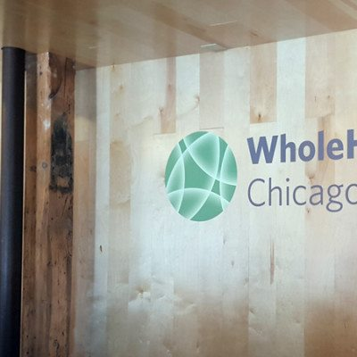 Whole Health Front Desk Wall Graphics
