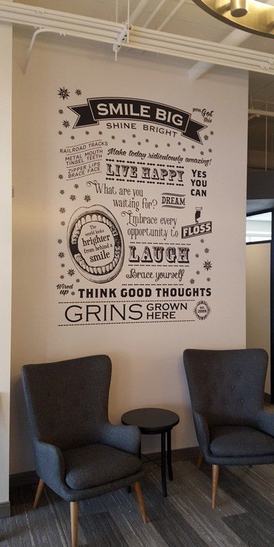 Wall Graphics at Willow Creek Orthodontics