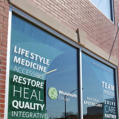 Whole Health Storefront Window Graphics