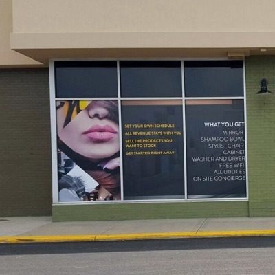 Hair Salon Exterior Window Graphics