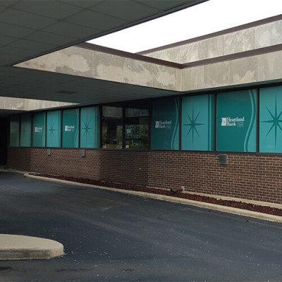 Window Graphics Heartland Bank