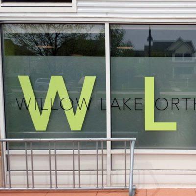 Window Graphics at Willow Lake Orthodontics