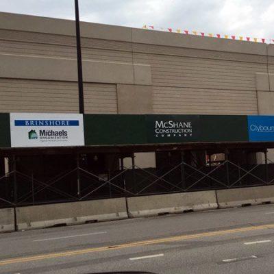 Scaffolding Signage for McShane