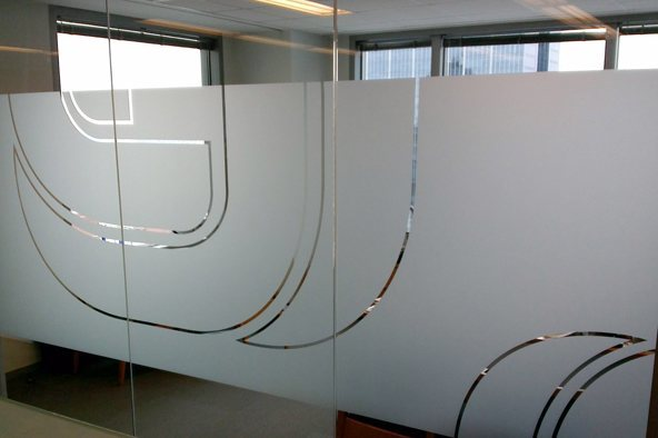 Conference Room Privacy Film in Commercial Office