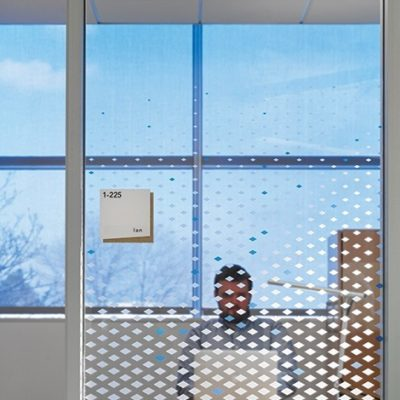 Privacy Film Installed At Textura (photos Courtesy Of Hedrich Blessing)