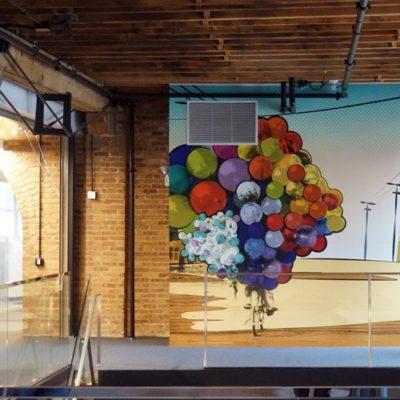 Mosaic Balloon Wall Graphic