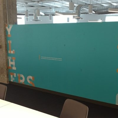 Colorful Privacy Film Installed in Yelp Conference Room