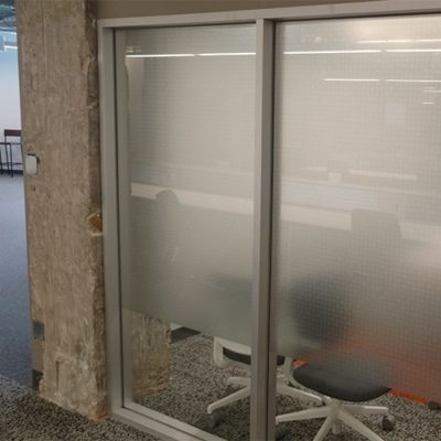Individual Office Privacy Film Printed and Installed for Yelp