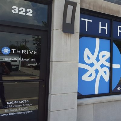 Storefront Window Graphics at Thrive