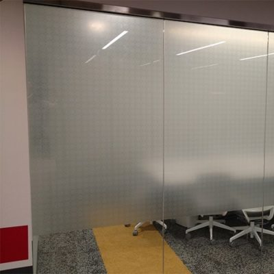 Conference Room Privacy Film Printed and Installed at Yelp