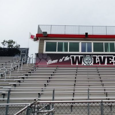 Bleacher Banner at Niles West High School