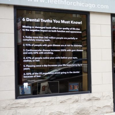 Window Graphics at New Teeth Dental