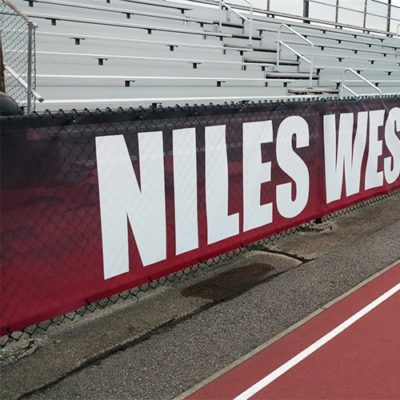 Windscreen Banner at Niles West High School
