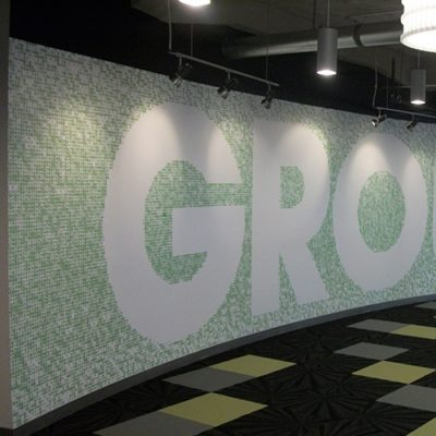 Groupon Lobby Wall Graphic