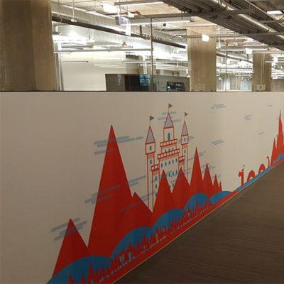 Wall Graphics Mural at Groupon Office