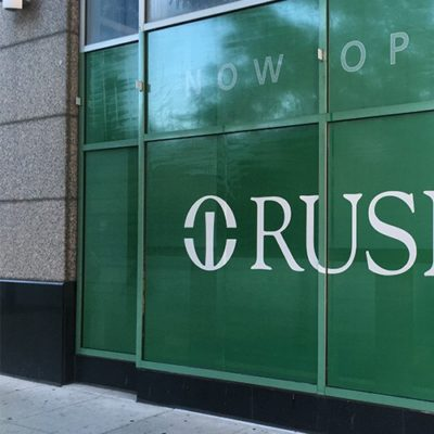 Window Graphic at Rush