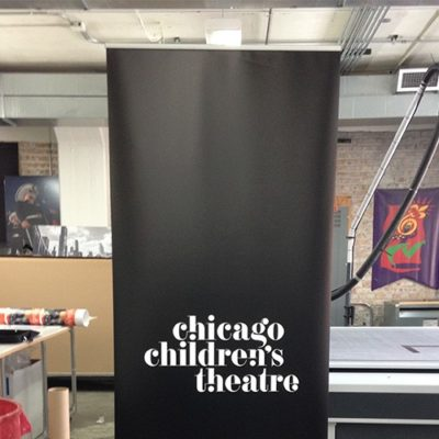 Banner Stand for Chicago Children's Theatre