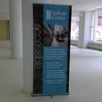 Banner Stand Display at Sullivan Center