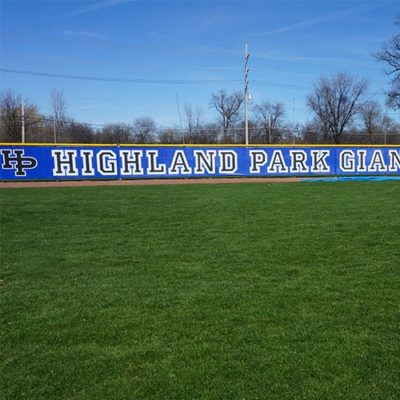 Highland Park Base Fence Signage