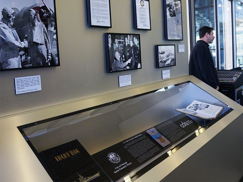 The Pilot and the Printer 10 Butch OHare Display Case