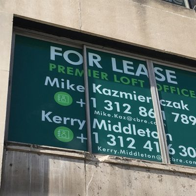 CBRE for Lease Window Graphics