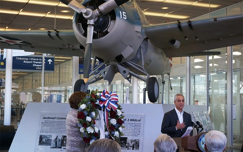 The Pilot and the Printer 9 Mayor Rahm Emanuel Speaking Butch OHare