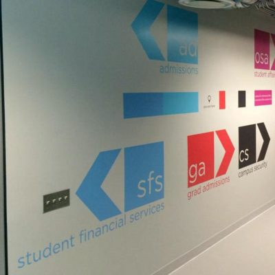 Interior Directional Signage at School