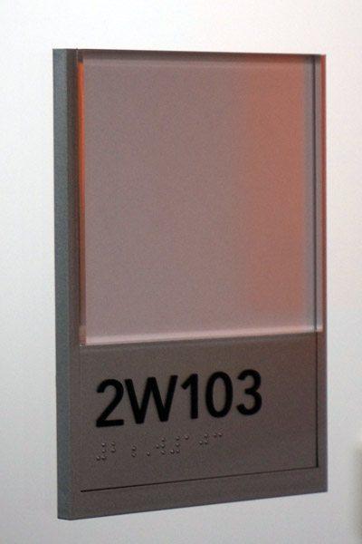Up Close Office Door Placard