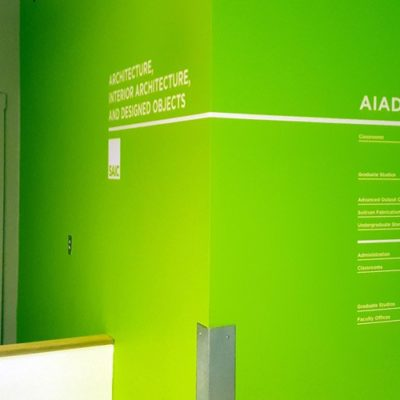 Internal Wayfinding on Office Wall