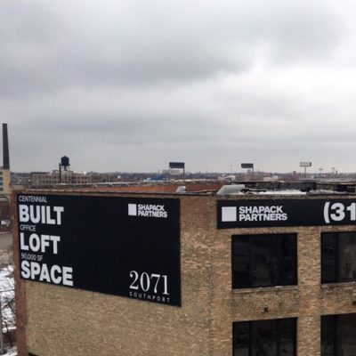 Shapack Partners Banners Top of Building