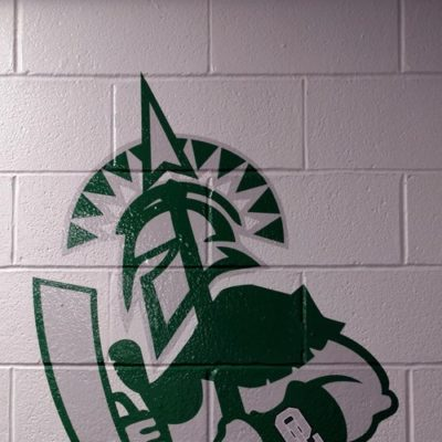 Spartan Wall Graphic Installed in Weight Room