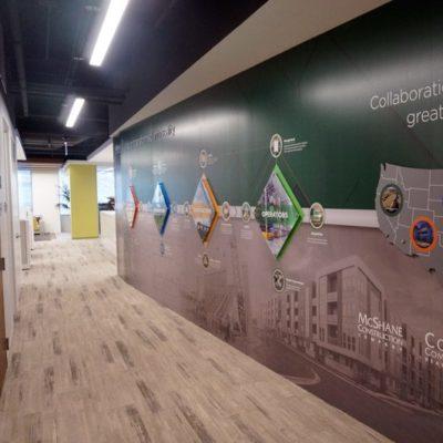 Wall Graphics and Acrylic at McShane Construction
